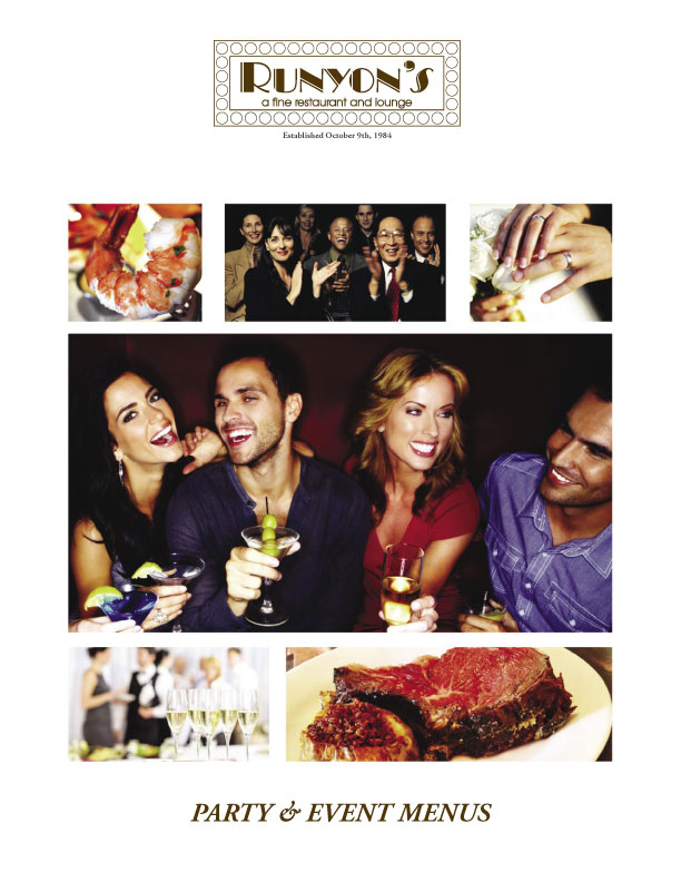 Party & Event Menus Cover Page