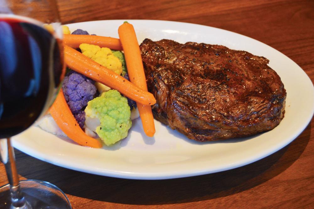 Veal, Roasted Vegetables & Wine