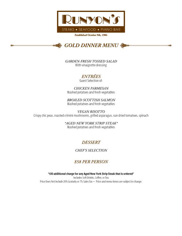Gold Dinner